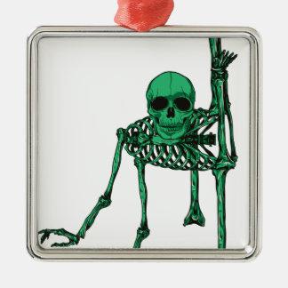 Skeleton Creepy Yoga Skull Dancing Christmas Ornament