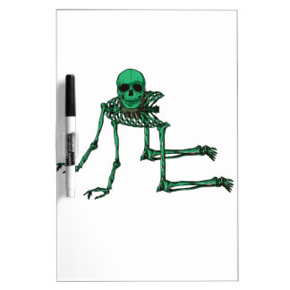 Skeleton Creepy Yoga Skull Dancing Dry Erase Board