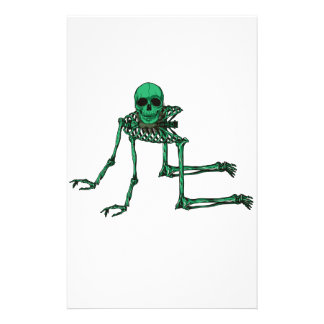 Skeleton Creepy Yoga Skull Dancing Stationery