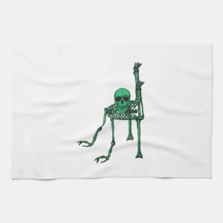 Skeleton Creepy Yoga Skull Dancing Tea Towel