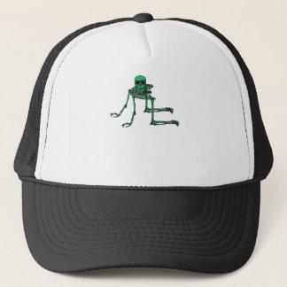 Skeleton Creepy Yoga Skull Dancing Trucker Hat