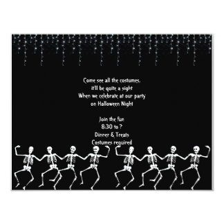Skeleton Dance Party Halloween Invitations