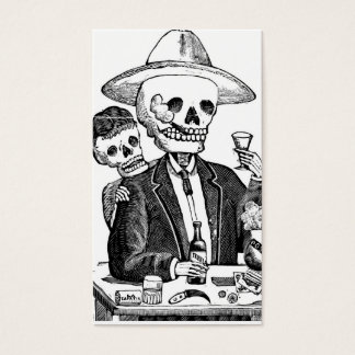 Skeleton Drinking Tequila and Smoking, Mexico