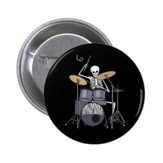 Skeleton Drummer 6 Cm Round Badge
