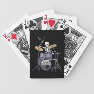 Skeleton Drummer Bicycle Poker Deck