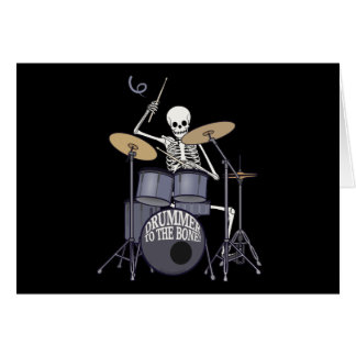 Skeleton Drummer Greeting Cards
