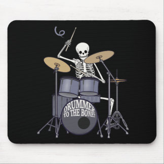 Skeleton Drummer Mouse Mat