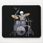 Skeleton Drummer Mouse Pad