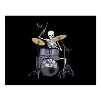 Skeleton Drummer Postcard