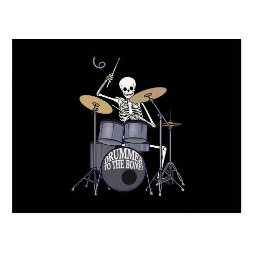 Skeleton Drummer Postcard