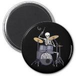 Skeleton Drummer Refrigerator Magnet