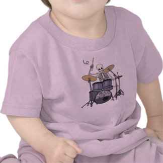 Skeleton Drummer T-shirts