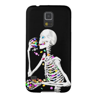 Skeleton Eating Halloween Candy Galaxy S5 Case