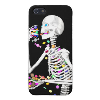 Skeleton Eating Halloween Candy iPhone 5/5S Case