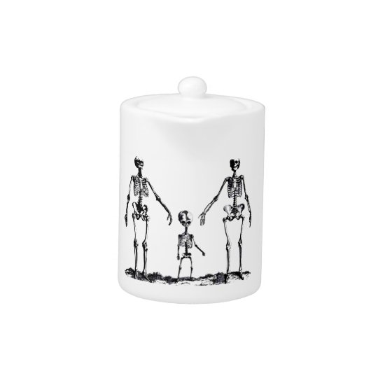 Skeleton Family Teapot