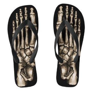 Skeleton Feet Funny Foot Bones Spooky Black Flip Flops