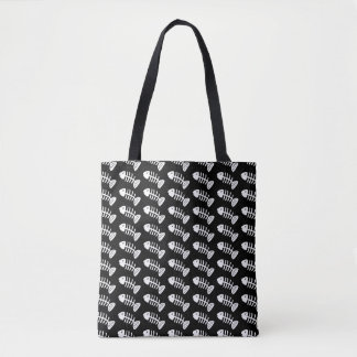 Skeleton Fish Bones Tote Bag