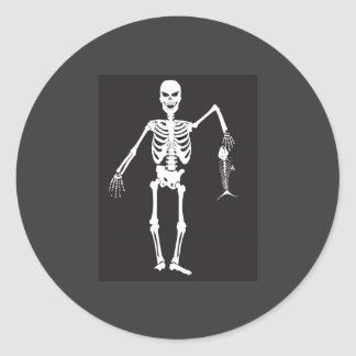 Skeleton Fisherman Sticker
