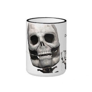 Skeleton flossing mug