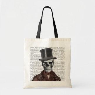 Skeleton Gentleman and Top hat Budget Tote Bag
