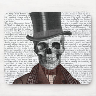 Skeleton Gentleman and Top hat Mouse Pad