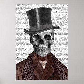 Skeleton Gentleman and Top hat Poster