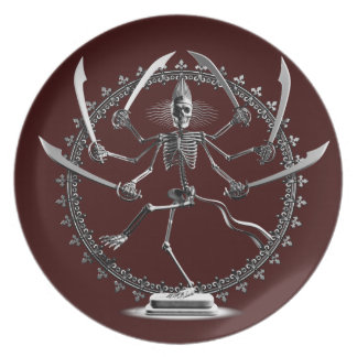 Skeleton Goddess Plates