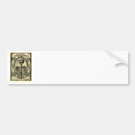 Skeleton, Goth, Medieval Bumper Sticker