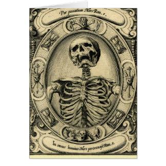 Skeleton, Goth, Medieval Greeting Card