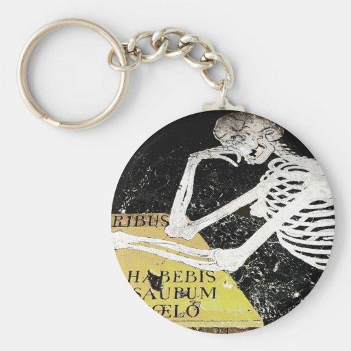 Skeleton Gravestone(1) Keychain