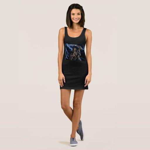Skeleton Grim Reaper Sleeveless Dress