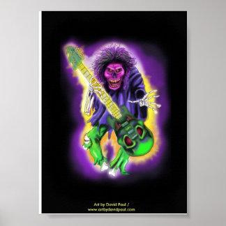 Skeleton Guitar Player Poster