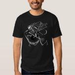 Skeleton Guitarist -crouch Tee Shirt