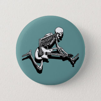 Skeleton Guitarist Jump 6 Cm Round Badge