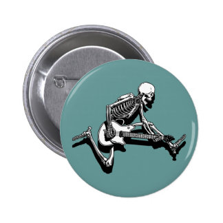 Skeleton Guitarist Jump 6 Cm Round Badge