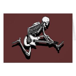 Skeleton Guitarist Jump Cards