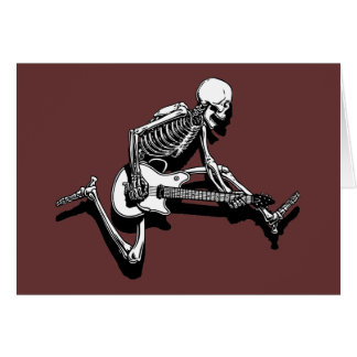 Skeleton Guitarist Jump Greeting Card