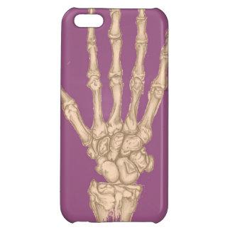 Skeleton Hand Case - purple iPhone 5C Case