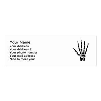 Skeleton hand finger business card