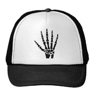 Skeleton hand finger trucker hat