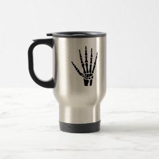 Skeleton hand finger mug