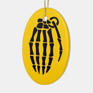 Skeleton Hand Grenade Christmas Ornament