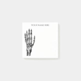 Skeleton hand Halloween Post-it Notes