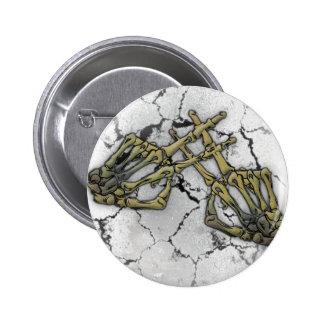 Skeleton Hand Horror Hashtag 6 Cm Round Badge
