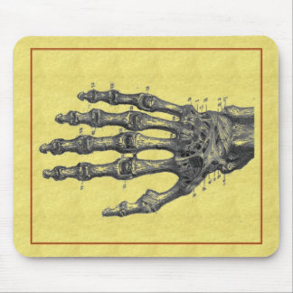skeleton hand mouse mat