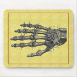 skeleton hand mouse pads