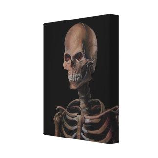 Skeleton Hand Painted Canvas Print