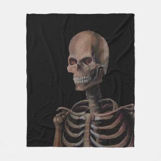 Skeleton Hand Painted Fleece Blanket