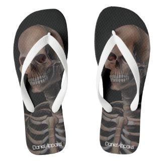 Skeleton Hand Painted Flip Flops