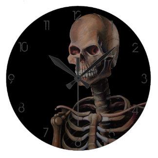 Skeleton Hand Painted Wall Clocks